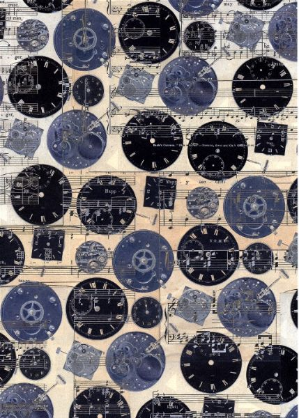A4 Crafthouse Press Watch Faces Blue